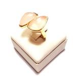 Anel Banhado a Ouro com Quartzo Rosa