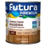 Verniz Marítimo para Madeira Brilhante 0,9L Incolor - Futura