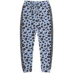 Calça Juvenil Fakini Moletom Quentinha Jogger Animal Print Azul