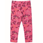 Legging Infantil Quentinha Flanelada Menina Love Pink