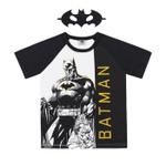 Camiseta Infantil Com Máscara Do Batman Branca