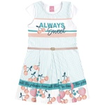 Vestido Infantil Kamylus Com Cinto Always Sweet