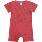 Macacão Bebê De Menino Verão Fundo Do Mar Vermelho