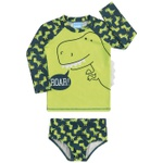 Conjunto Sunga + Camiseta Manga Longa Infantil Kamylus Menino Com Estampa Dinossauro