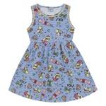 Vestido Infantil Fakini Menina Alcinhas Com Estampa Lol! Azul Claro