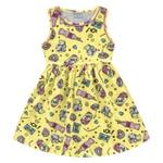 Vestido Infantil Fakini Menina Alcinhas Com Estampa Lol! Amarelo