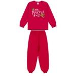 Conjunto Infantil Inverno de Menina Pequena Rainha Rosa Escuro