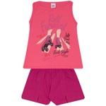 Conjunto Infantil Menina Blusa Roll Forward Pink e Short