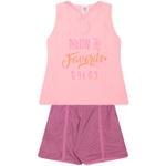 Conjunto Infantil Verão Menina Neon Color Rosa