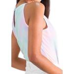 Body Tie Dye Feminino Frente Única Gola Redonda Moda Blogueira
