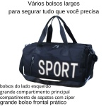 Bolsa Transversal Academia Sport Mala Compartimento Tênis