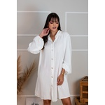 Chemise Longo Botões Na Frente Manga Longa Feminina Camisa Tendencia