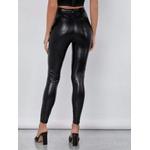 Calça Disco Hot Pants Legging Cirre Com Bolsos Cintura Alta Skinny