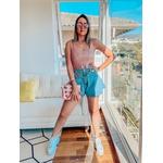 Regata Tricot Stela Brilhante Com Linho Bloguer