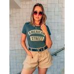 Shorts Feminino Jeans Godê Lançamento Caqui