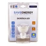 Lâmpada LED Dicroica 4,8W BIV 2700K (Amarela) SE130 - Save Energy