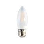 Lâmpada LED Vela Filamento Claro 3W BIV E27 2700K(Luz Branca quente) 20185- OUROLUX