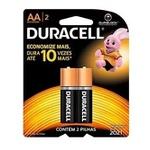 Pilha AA Pequena Alcalina Duracell- Cartela c/2