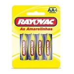 Pilha AA Comum RAYOVAC - Cartela com 4
