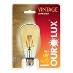 Lâmpada Led Vintage Pera ST64 4W Bivolt 2400K 5335 - OUROLUX