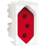 Tomada 2P+T 20A Fundo Vermelho 1M Branco PRM04741- Schneider