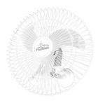 Ventilador De Parede Osc. Premium 60Cm Pt Biv - VENTIDELTA