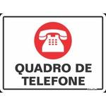 """Placa Poliestireno 15x20 """"QUADRO DE TELEFONE"""" - SINALIZE"""