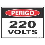 """Placa Poliestireno 15x20 """"PERIGO220"""" 220AY"""