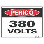 """Placa Poliestireno 15x20 """"PERIGO 380V"""" 220AZ"""