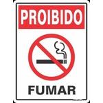 """Placa Poliestireno 20x25 """"PROÍBIDO FUMAR"""" 280SP - SINALIZE"""
