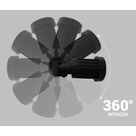 Espeto de Jardim LED IP65 3000K Qunete BIV Ø5,7CM Metal Preto Eco 33099 - OPUS