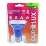 Lâmpada LED PAR20 6W Bivolt AZUL 05475 OUROLUX