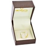Anel de Ouro 18K Corações Bicolor
