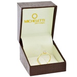 Anel Flor de Brilhantes em Ouro Amarelo 18K Pequeno