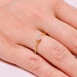 Anel de Diamantes em Ouro 18K