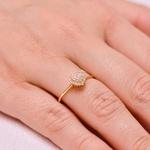 Anel Coração de Diamantes de Ouro 18K