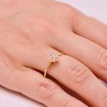 Anel Buquê de Diamantes Médio em Ouro 18K