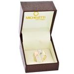Anel de Ouro 18K Diamantado 3 Cores