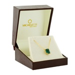 Gargantilha Ouro 18K Pedra de Topázio Verde