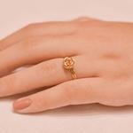 Anel Rosa em Ouro 18K Bicolor