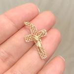 Pingente de Ouro 18K Crucifixo Vazado