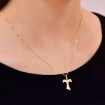 Pingente Ouro 18K Cruz de Tau Fosca