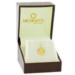 Pingente Ouro 18K Medalha Primeira Comunhão Pequena
