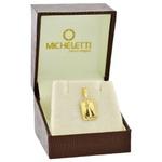 Pingente de Nossa Senhora Aparecida Ouro 18K Diamantado