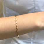 Bracelete de Ouro 18K Detalhe Ondulado