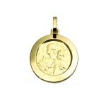 Pingente Medalha São José em Ouro 18K