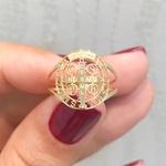 Anel Ouro 18K Símbolo de São Bento Vazado