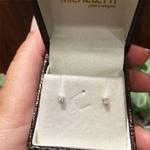 Brinco Infantil Solitário Mini com Diamante Ouro Branco 18K