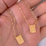 Escapulário Corrente Cartier de Ouro 18K 45cm