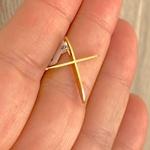 Pingente Cruz de Ouro 18K Polida